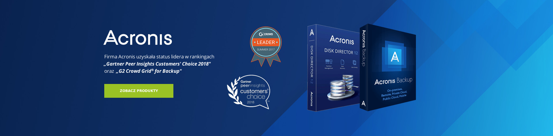 Acronis Liderem Gartner
